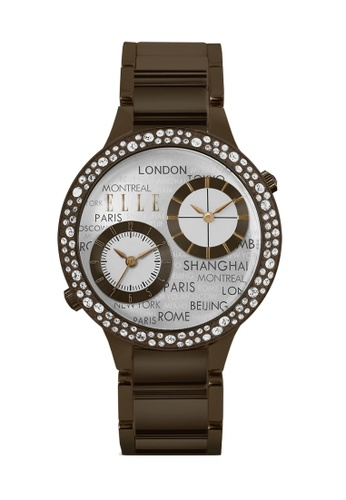 ELLE brown Fashion Ladies Watch EL105AC81LHIMY_1