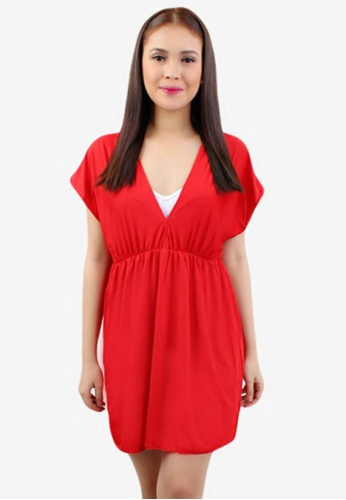 OOTD red Candy Colored Beach Cover Up Dress OO654US62HURPH_1