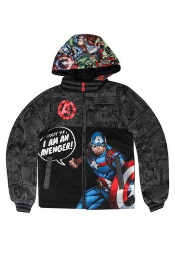 Desigual black Captain America Jacket B7179KA4918621GS_1