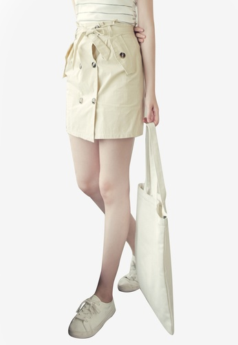 Eyescream beige Trench Mini Skirt 0F5DCAA7C41574GS_1