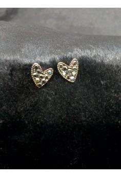 black heart shape earring