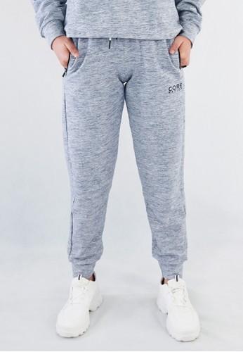 Corenation Active grey Freja Pants Premium - Light Grey D477BAAC7D2390GS_1