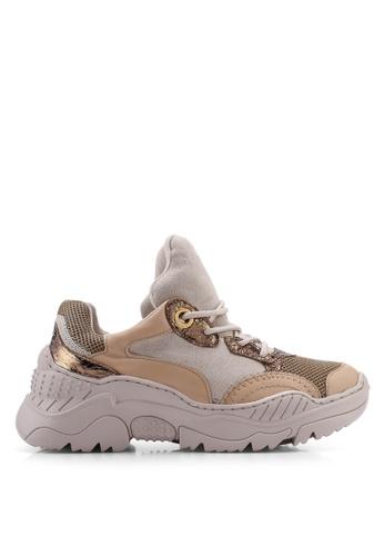 VANESSA WU 米褐色 Edan Sneakers 2171ESH563F296GS_1