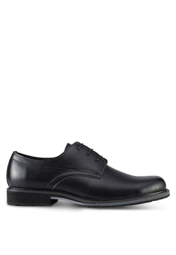 ZALORA black Lace Up Dress Shoes 37C65SHD1C9007GS_1