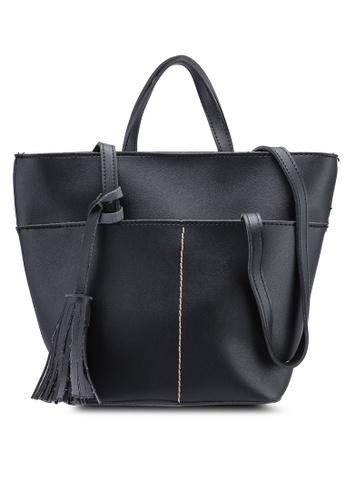 Berrybenka black Talaiya Decca Shoulder Bag 649DDAC23894C7GS_1