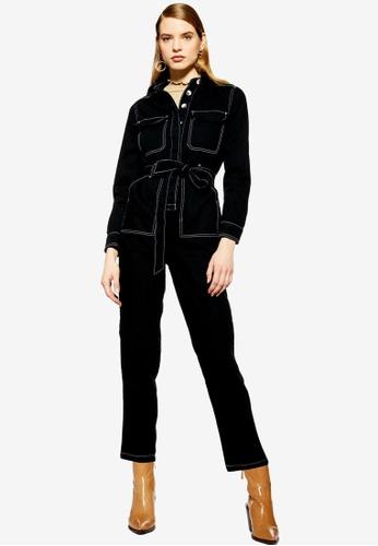 3a31b8b792b Buy TOPSHOP Black Denim Boilersuit Online on ZALORA Singapore