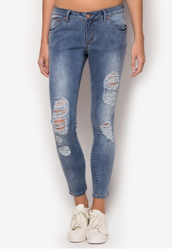 Ripped Skinny Jeans - Penshoppe - Buy Online at ZALORA PH