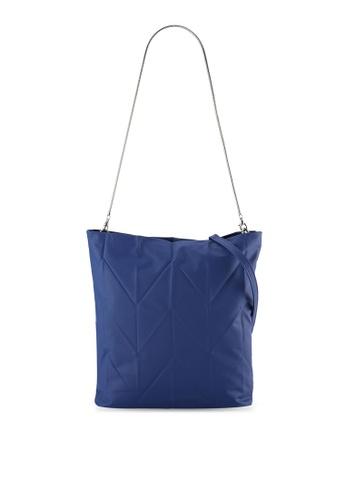 Something Borrowed blue Textured Long Strap Tote Bag C4B9EZZA2A3B4DGS_1