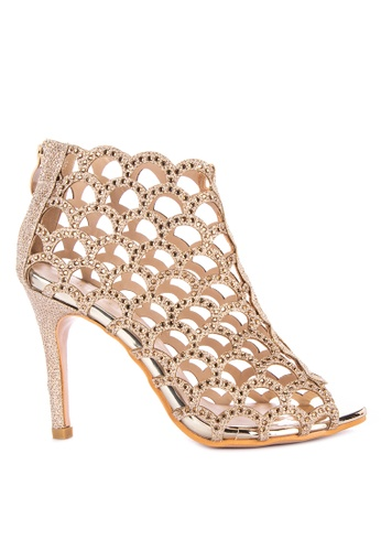 eb43f93be89 Shop Rock Rose Gladiator Heels Online on ZALORA Philippines