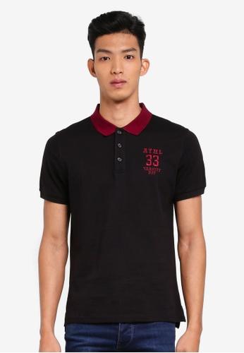 Marc & Giselle 黑色 刺繡POLO衫 90565AA86A4BA1GS_1