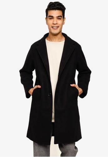 niko and ... black Woven Coat A4730AAB6DA9C6GS_1