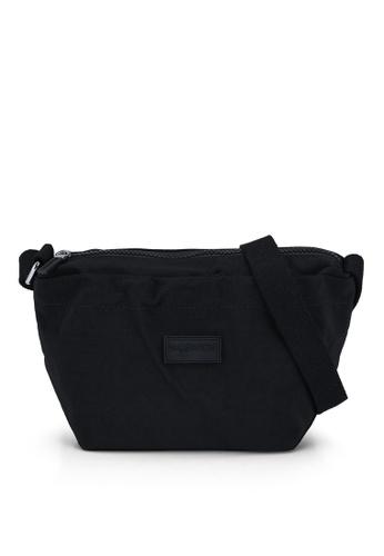 Bagstationz black Crinkled Nylon Mini Sling Bag 5CA87ACD27357DGS_1