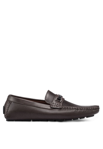 High Cultured brown Metal Hardware Loafers 325 0EECDSH12B845EGS_1