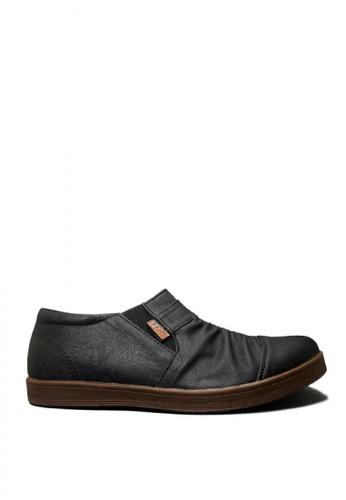D-Island black D-Island Shoes Slip On Wrinkle Sneakers Leather Black 4F966SH9BFE8E3GS_1