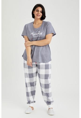 DeFacto blue Woman 2-pieces Homewear Top & Bottom Set 04E70AA799738CGS_1
