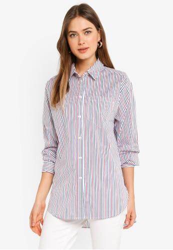 Esprit multi Stripe Print Shirt D7C57AA46A1C55GS_1