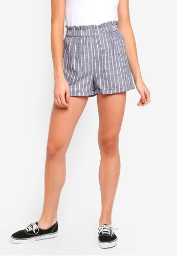 Cotton On navy Maisy Paperbag Shorts FFF49AA8B366E7GS_1