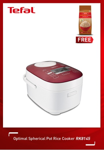 Tefal white Optimal Fuzzy Spherical Pot Rice Cooker A56ACHL9FAC3EBGS_1