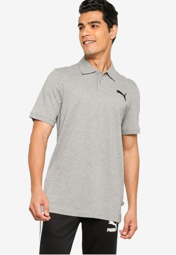 PUMA grey Essentials Pique Men's Polo Shirt 22498AAFB21BE7GS_1