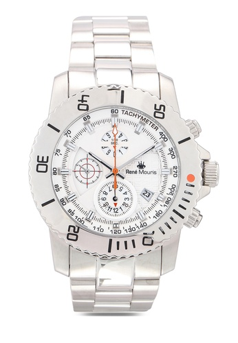René Mouris silver L.I.F.L - 45.5mm Quartz Chrono Watch EFE78AC3CDB9D9GS_1