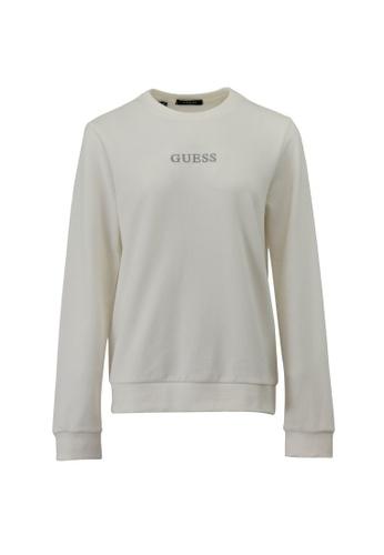 Guess white Guess Ladies Long Sleeve Sweatshirt B143FAA3E49872GS_1