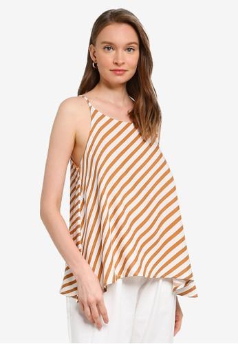Compania Fantastica brown Brown Stripe Cami Top BF74DAA082BE7BGS_1