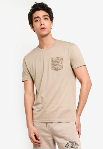 Brave Soul 多色 胸前口袋T恤 C3DC2AA76A2CD7GS_1