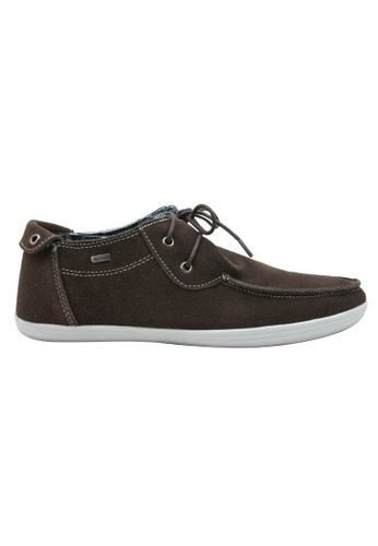 midzone brown Suede Leather Casual Shoes SC378SH27FRGMY_1