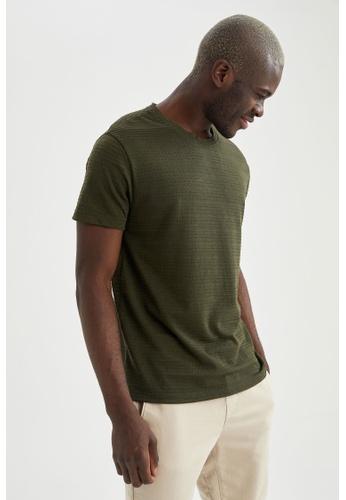 DeFacto green Short Sleeve Round Neck T-Shirt 63062AA0E63513GS_1