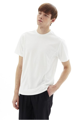 Life8 white Formal Elastic U-Neck Tee-11150-White D9AE1AAC416529GS_1