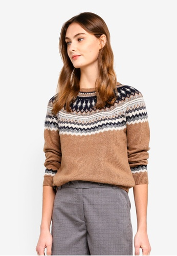 ESPRIT brown Glitter Embellished Jumper B088CAA0511561GS_1