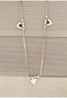 14K Yellow Gold Three Heart Chain