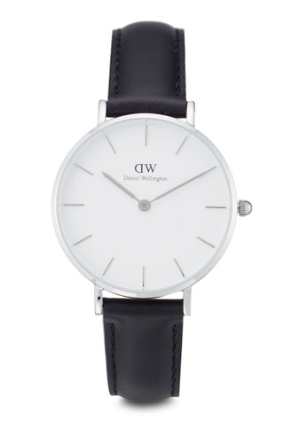 Daniel Wellington black and silver Classic Petite Sheffield Watch DA376AC45PMGMY_1
