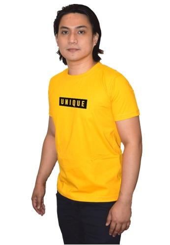 Myriad Print Concepts yellow Minimalist Statement Shirt (Yellow) - Unique CA9BDAAF9757CBGS_1