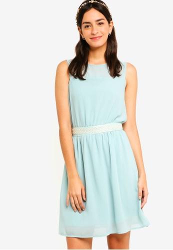 ZALORA green Bridesmaid Embellished Waist Tie Mini Dress AA171AA0F12479GS_1