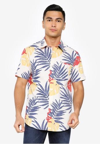Ben Sherman yellow Reverse Palm Print Shirt 6D615AA32919F4GS_1