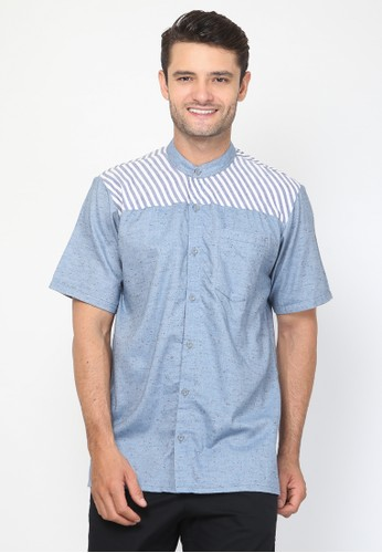 Allev blue Furqan Shirt - Biru 05EA3AACEBF579GS_1