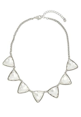 Jaysa Collection silver Light Glamour Rhinestones Necklace JA875AC37SYGSG_1