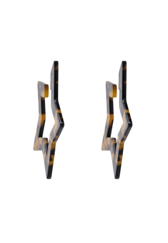 465de91e1d9c0 Tortoiseshell Star Hoop Earrings