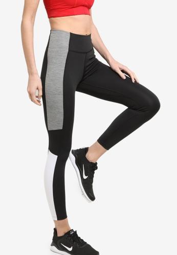 Nike black Dri-FIT One Women's Mid-Rise 7/8 Colour-Block Leggings 156CDAA311D5C5GS_1
