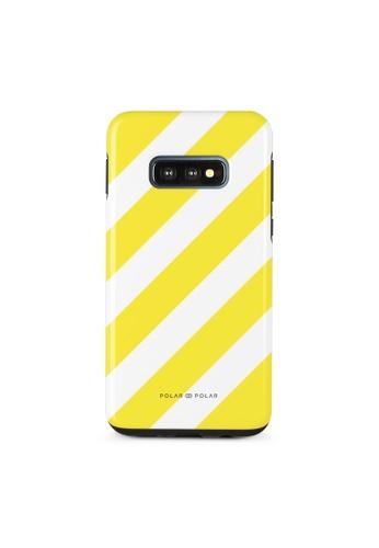 Polar Polar yellow Yellow Slash Dual-Layer Tough Case Glossy For Samsung Galaxy S10E 2E35DAC2046339GS_1