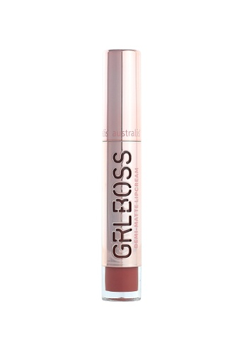 Australis red and beige Australis GRLBOSS Demi Matte Lip Cream - Success A077ABEBAD322FGS_1