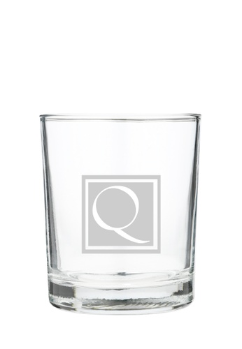 Myriad Print Concepts white Whisky Scotch Glass (Glass-etched Initial) 2D2CFESCA7C105GS_1