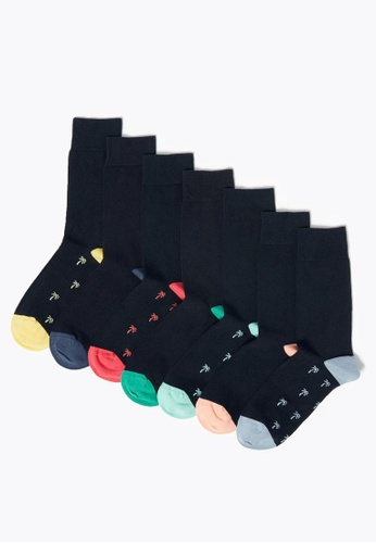 MARKS & SPENCER blue M&S 7 Pack Cotton Cool & Fresh Socks 979EEAA0909577GS_1
