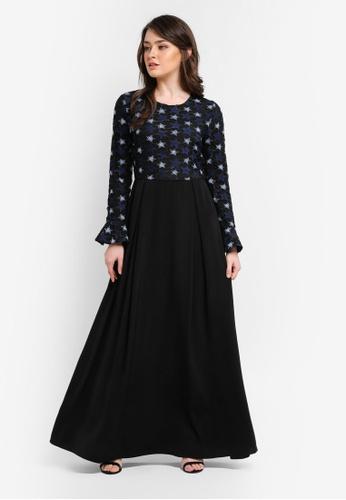 Zalia black Lace Piece Dress 1315CAA32FB5E7GS_1