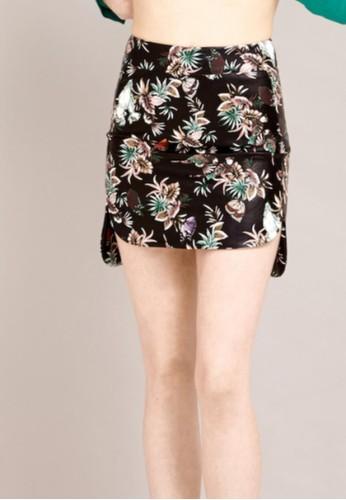 皮革印花裙, 服飾,esprit香港分店 迷你裙