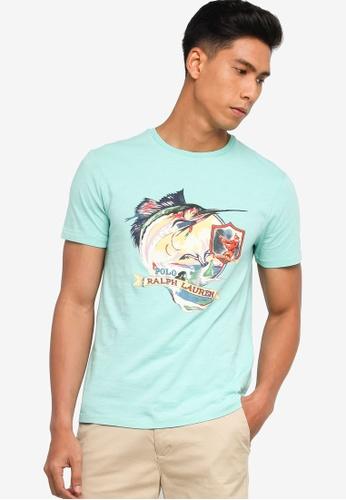 Polo Ralph Lauren green Short Sleeve Printed T-Shirt F0628AA00B5B48GS_1