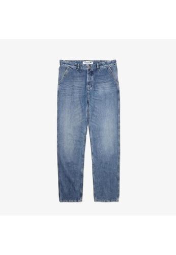 Lacoste blue Men's Loose Cut Five-Pocket Cotton Denim Jeans 85A4EAAA8BBEA9GS_1