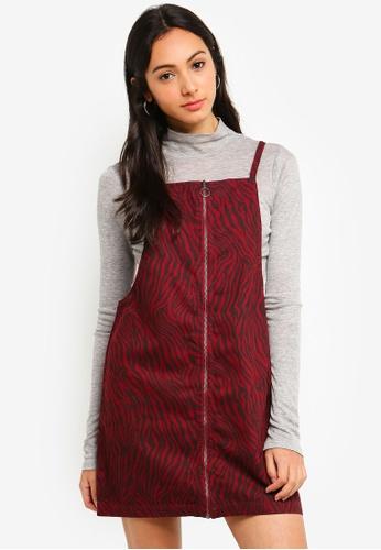 Cotton On black Faith Denim Pinafore Mini Dress 2BA06AA2E4E183GS_1