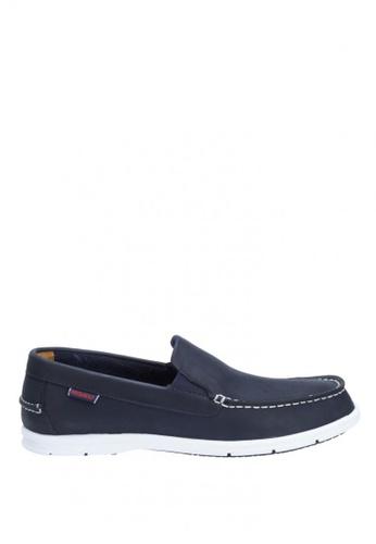 Sebago navy Litesides Slip On Boat Shoe SE328SH33IAOPH_1